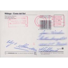 ESPAÑA (----). TNT. Tarjeta postal (vía Holanda) LETTRE