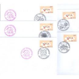 TAIWÁN (2010). Flores Tung (4)- negro. Sobres STAMPEX (107)