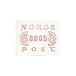 NORUEGA (1980). Emisión básica (2) - rojo. ATM nuevo (0005)