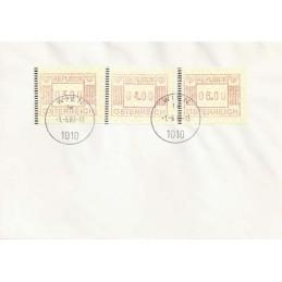 AUSTRIA (1983). Emblema postal. Sobre primer día (serie)