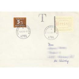 AUSTRIA (1983). Emblema postal. Sobre