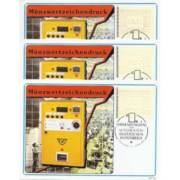 AUSTRIA (1983). Emblema postal. Tarjetas (serie)