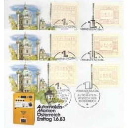 AUSTRIA (1983-88). Emblema postal (1+2). Sobres primer día