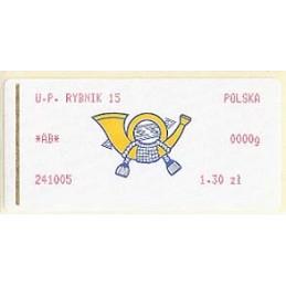 POLONIA (2005). Emblema (1.1) - rojo. RYBNIK 15. ATM nuevo