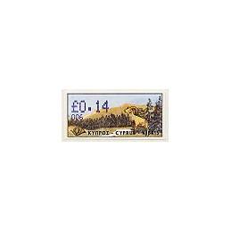 CHIPRE (1999). Muflón de Chipre. Distr. 006. ATM nuevo (0.14)