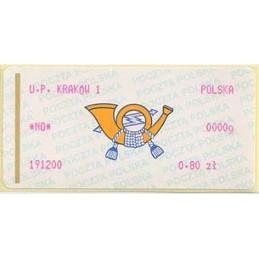 POLONIA (2000). Emblema (2) - rosa. KRAKOW 1. ATM nuevo (0.80)