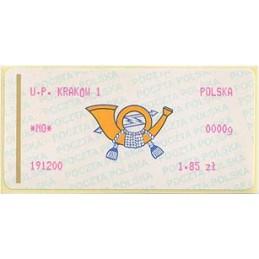 POLONIA (2000). Emblema (2) - rosa. KRAKOW 1. ATM nuevo (1.85)
