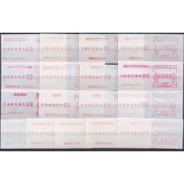 HOLANDA (1981). Emisión básica. Colección 17 sellos