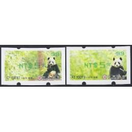 TAIWÁN (2010). Osos panda - verde. ATMs nuevos ( 99)