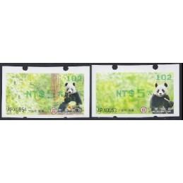 TAIWÁN (2010). Osos panda - verde. ATMs nuevos (102)