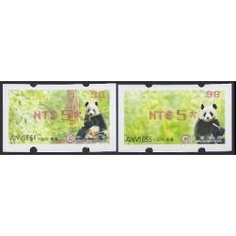 TAIWÁN (2010). Osos panda - rojo. ATMs nuevos ( 98)
