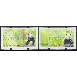 TAIWÁN (2010). Osos panda - verde. ATMs nuevos (081)
