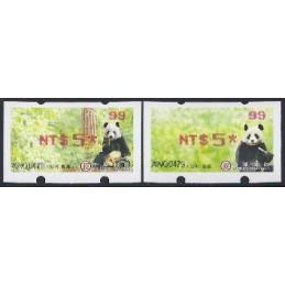 TAIWÁN (2010). Osos panda - rojo. ATMs nuevos ( 99)