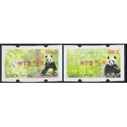 TAIWÁN (2010). Osos panda - rojo. ATMs nuevos (083) SOGO