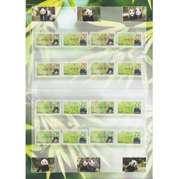 TAIWÁN (2010). Osos panda - rojo + verde. Carpeta (083) SOGO