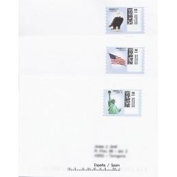 EEUU (2010). 1751. Motivos patrióticos. Sobres a España