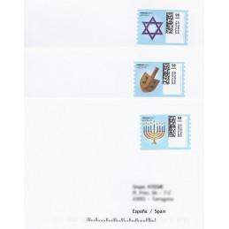 EEUU (2010). 1753. Hanukkah. Sobres a España