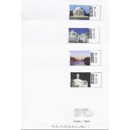 EEUU (2008). 20. Monumentos presidenciales. Sobres