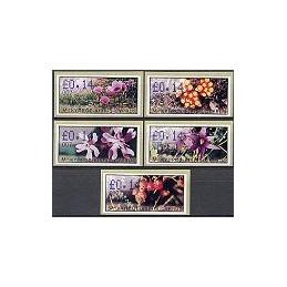 CHIPRE (2002). Flora salvaje. Distr. 007. ATMs nuevos