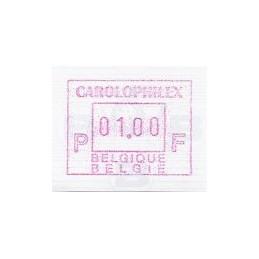 BÉLGICA (1997). CAROLOPHILEX. ATM nuevo