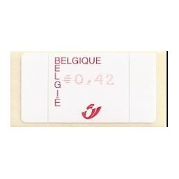 BÉLGICA (2002). Emisión básica AMIEL. ATM nuevo (0,42)