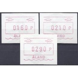 ALAND (1990). Emblema postal (4). Serie 3 val. (1991)