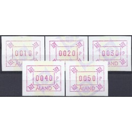 ALAND (1993). Emblema postal (5.2) - filigrana. ATMs nuevos