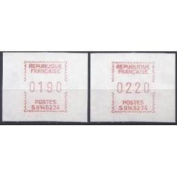 FRANCIA (1985). Emisión Frama - S0145234. Serie 2 val. (1986)