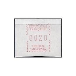 FRANCIA (1985). Emisión Frama - S0145234. ATM nuevo (20)