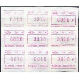 FINLANDIA (1990). Emisión básica (4) + nº. Colección 9 ATMs