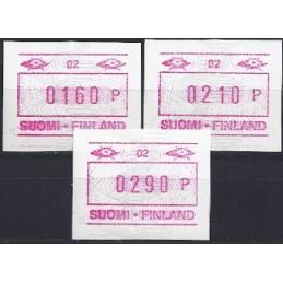 FINLANDIA (1990). Emisión básica (4) - 02. Serie 3 val. (1991)