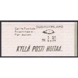 FINLANDIA (1991). Dassault-Inter Marketing. ATM nuevo (Carte P.)