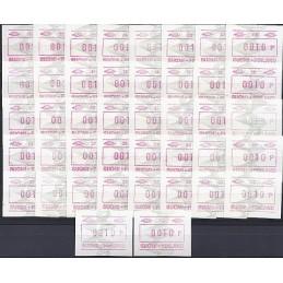 FINLANDIA (1993). Emisión básica (5). ATMs nuevos colección