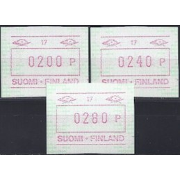 FINLANDIA (1994). Emisión básica (6) - 30. Serie 3 val. (1994)