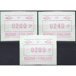FINLANDIA (1994). Emisión básica (6) - 12. Serie 3 val. (1994)
