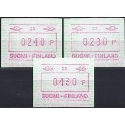 FINLANDIA (1994). Emisión básica (6) - 12. Serie 3 val. (1995)