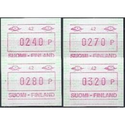 FINLANDIA (1994). Emisión básica (6) - 42. Serie 4 val. (1995)