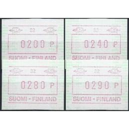 FINLANDIA (1994). Emisión básica (6) - 32. Serie 4 val. (1994)