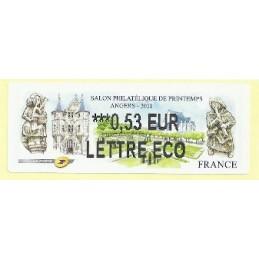 FRANCIA (2011). Salon printemps Angers. ATM nuevo (0,53 ECO)