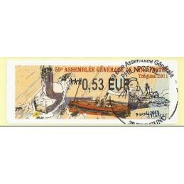 FRANCIA (2011). 59 Philapostel - Tregunc. ATM (0,53), matasello