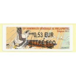 FRANCIA (2011). 59 Philapostel - Tregunc. ATM nuevo (0,53 ECO)
