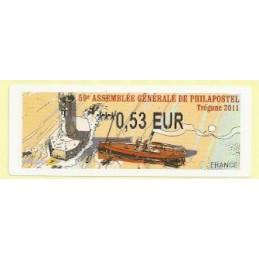 FRANCIA (2011). 59 Philapostel - Tregunc. ATM nuevo (0,53)