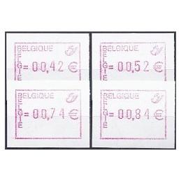 BÉLGICA (2002). Emblema postal (2). Serie 4 val.