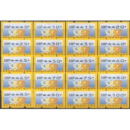 ALEMANIA (1999). Emblema postal (2) - Nagler (DBP). Colección AT