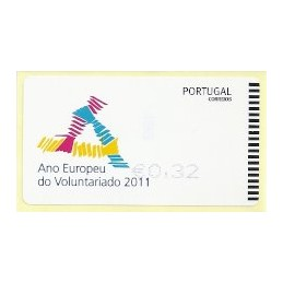 PORTUGAL (2011). Voluntariado - SMD AZUL. ATM nuevo