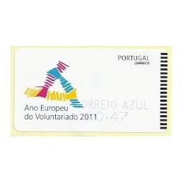 PORTUGAL (2011). Voluntariado - SMD AZUL. ATM nuevo (C. Azul)
