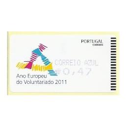 PORTUGAL (2011). Voluntariado - AMIEL AZUL. ATM nuevo (C. Azul)