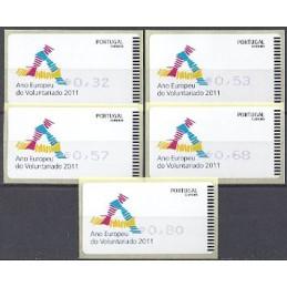 PORTUGAL (2011). Voluntariado - AMIEL AZUL. Serie 5 val.