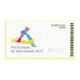 PORTUGAL (2011). Voluntariado - EPOST AZUL. ATM nuevo