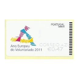 PORTUGAL (2011). Voluntariado - EPOST AZUL. ATM nuevo (C. Azul)